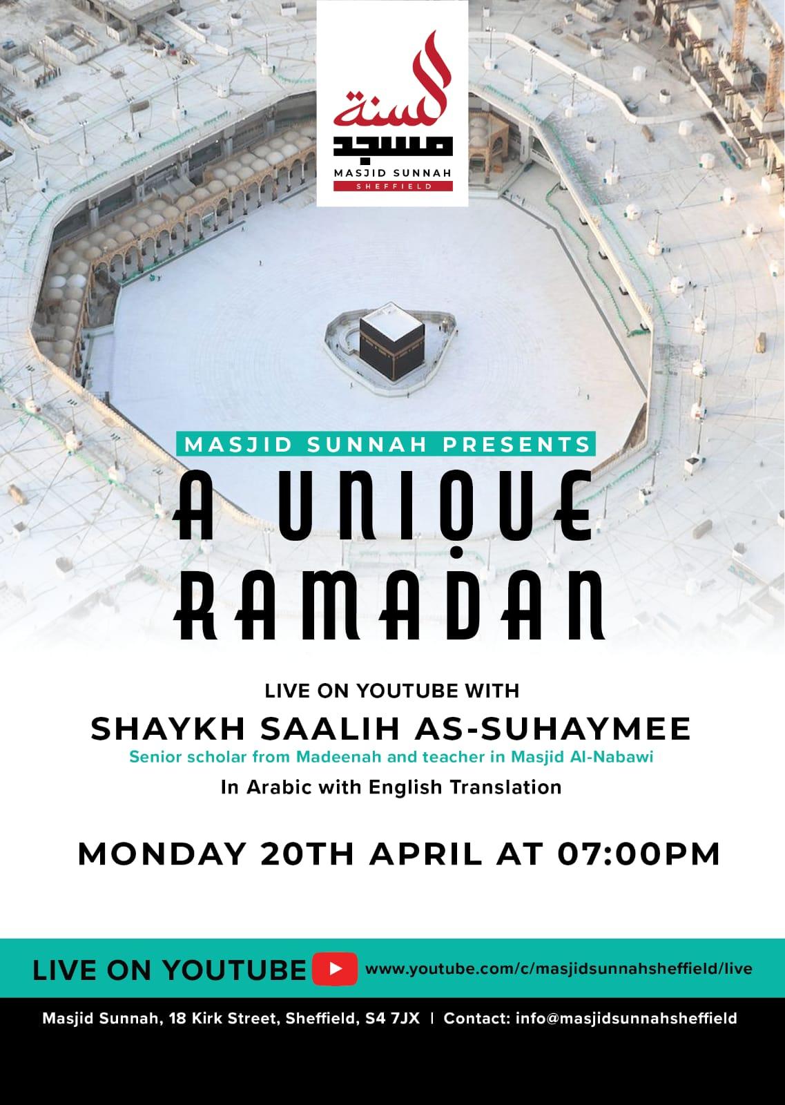 A Unique Ramadan
